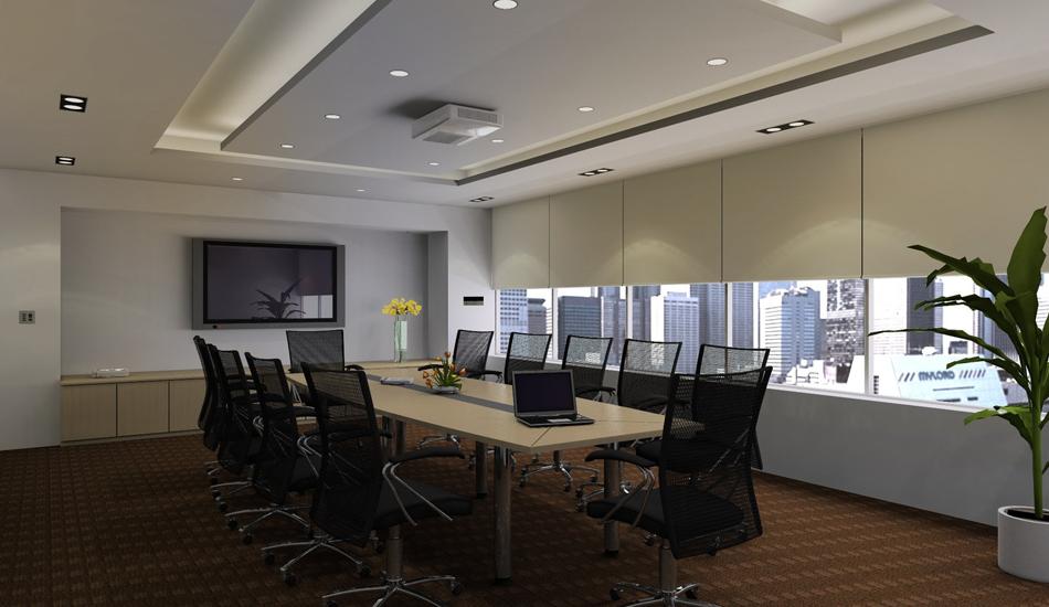Lutron Commercial Lighting in Boardroom
