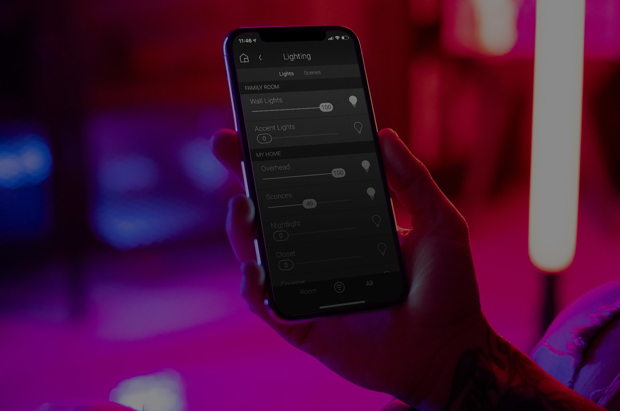 control automation system from your phone
